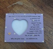 Shabby personalised Chic Gift For The Bride From Bridesmaid.. Photo Frame Plaque